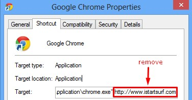 Fixing the Desktop shortcut of hijacked browser
