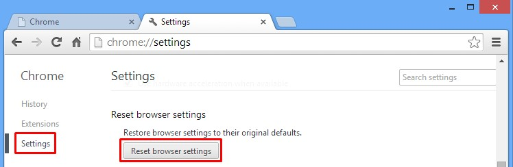 How to reset Google Chrome browser settings