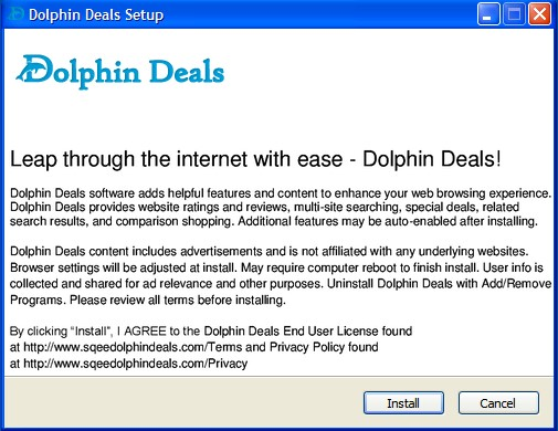 Dolphin Deals adware