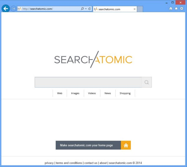 SearchAtomic browser hijacker