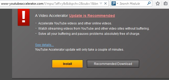 YouTube Accelerator pop-up