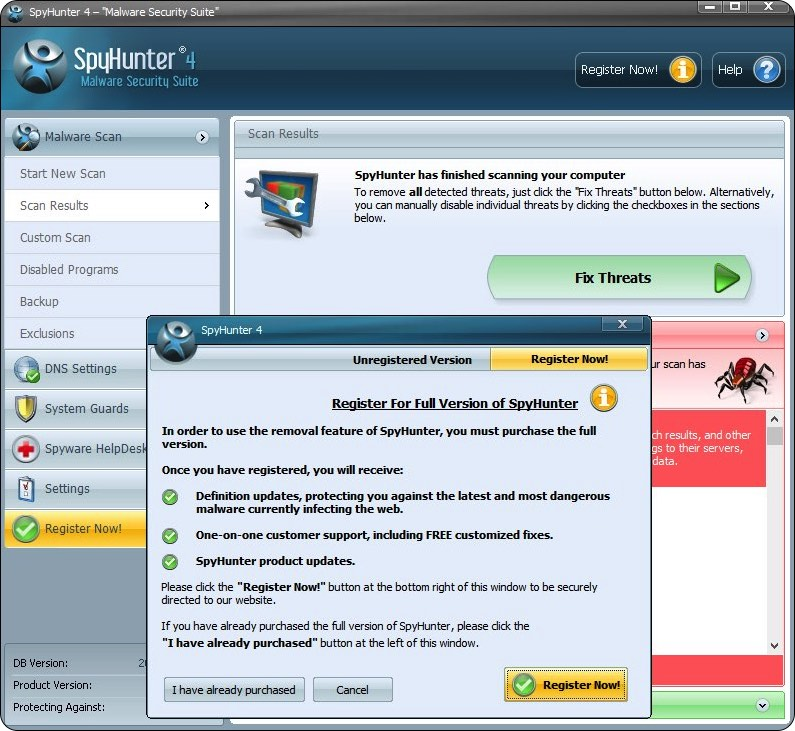 SpyHunter 4 - Fix Threats and Register Now