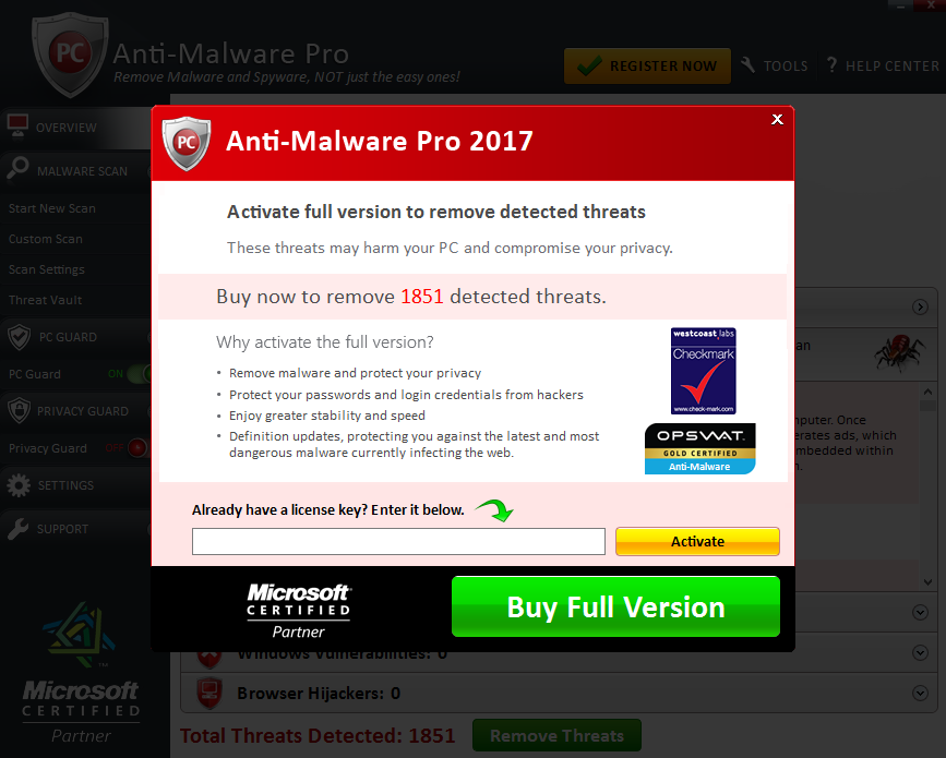 Anti-Malware Pro 2017 - Buy Full Version