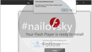 Bufferservice.com fake Flash Player update alert