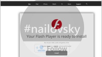 findinterface.com fake Flash Player update alert