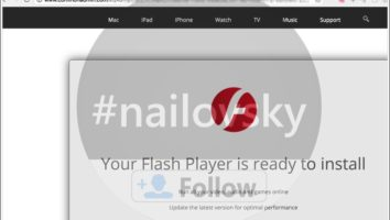 Commonadmin.com fake Flash Player alert