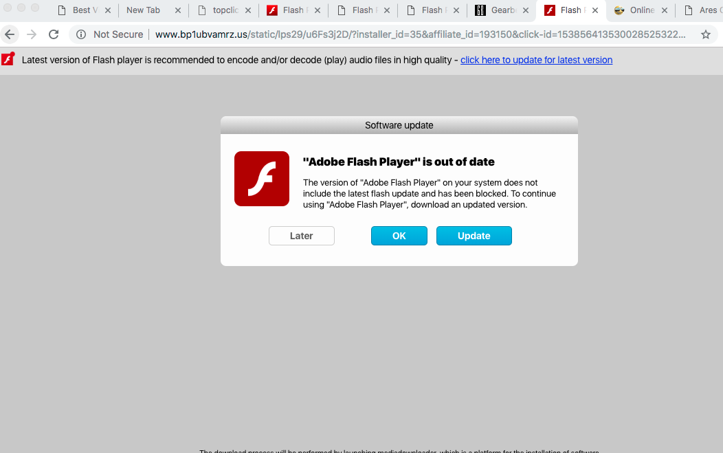 Bp1ubvamrz.us fake Adobe Flash Player alert