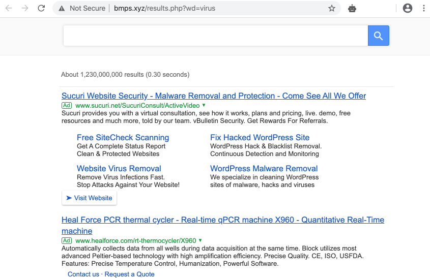 Bmps.xyz Searchgg Custom Search hijacker